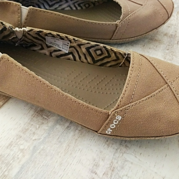 stable quality online sale reputation first Crocs Angeline Khaki Flats